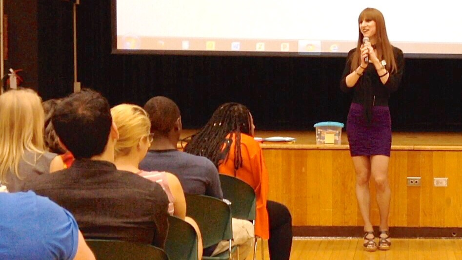 Gabrielle speaking at SUNY Brockport